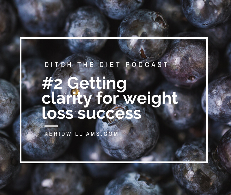 #2 Getting crystal clear for weight loss success